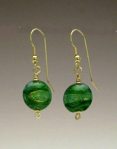Mystic Rivers of Gold Earrings