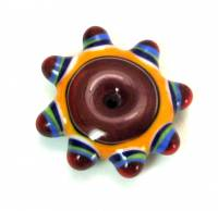 Summer Brights Dark Red Fancy Disk Bead