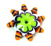 Summer Brights Lime Green Fancy Disk Bead