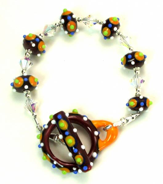 Small Beads Summer Brights Bracelet with Toggle