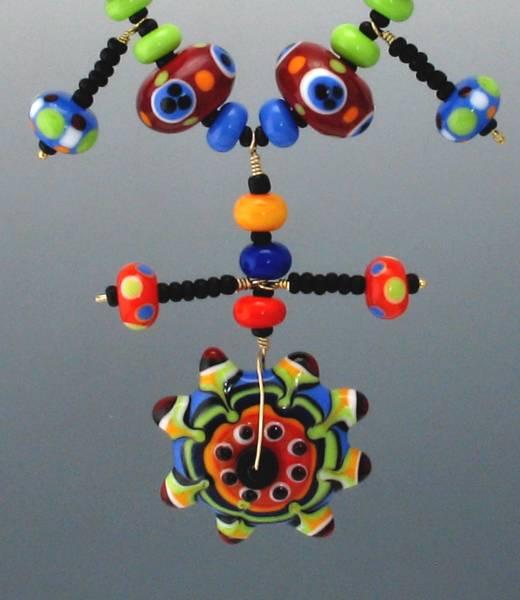 Summer Brights Kalaidescope Necklace Centerpiece Detail
