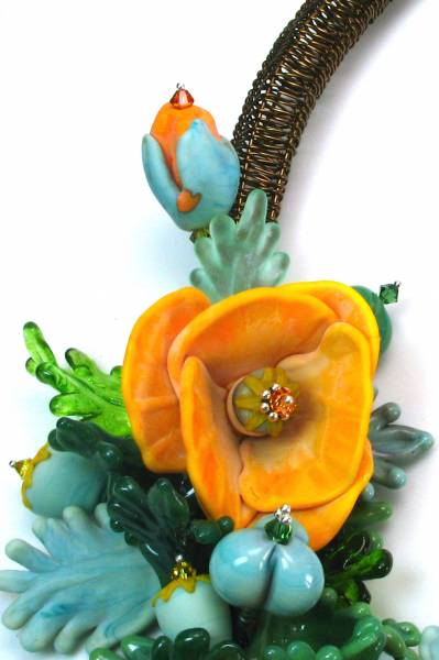 Yellow Poppies Side Detail