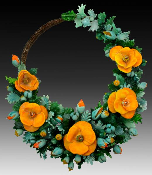 Yellow Poppies, Bead & Button Bead Dreams, 2011